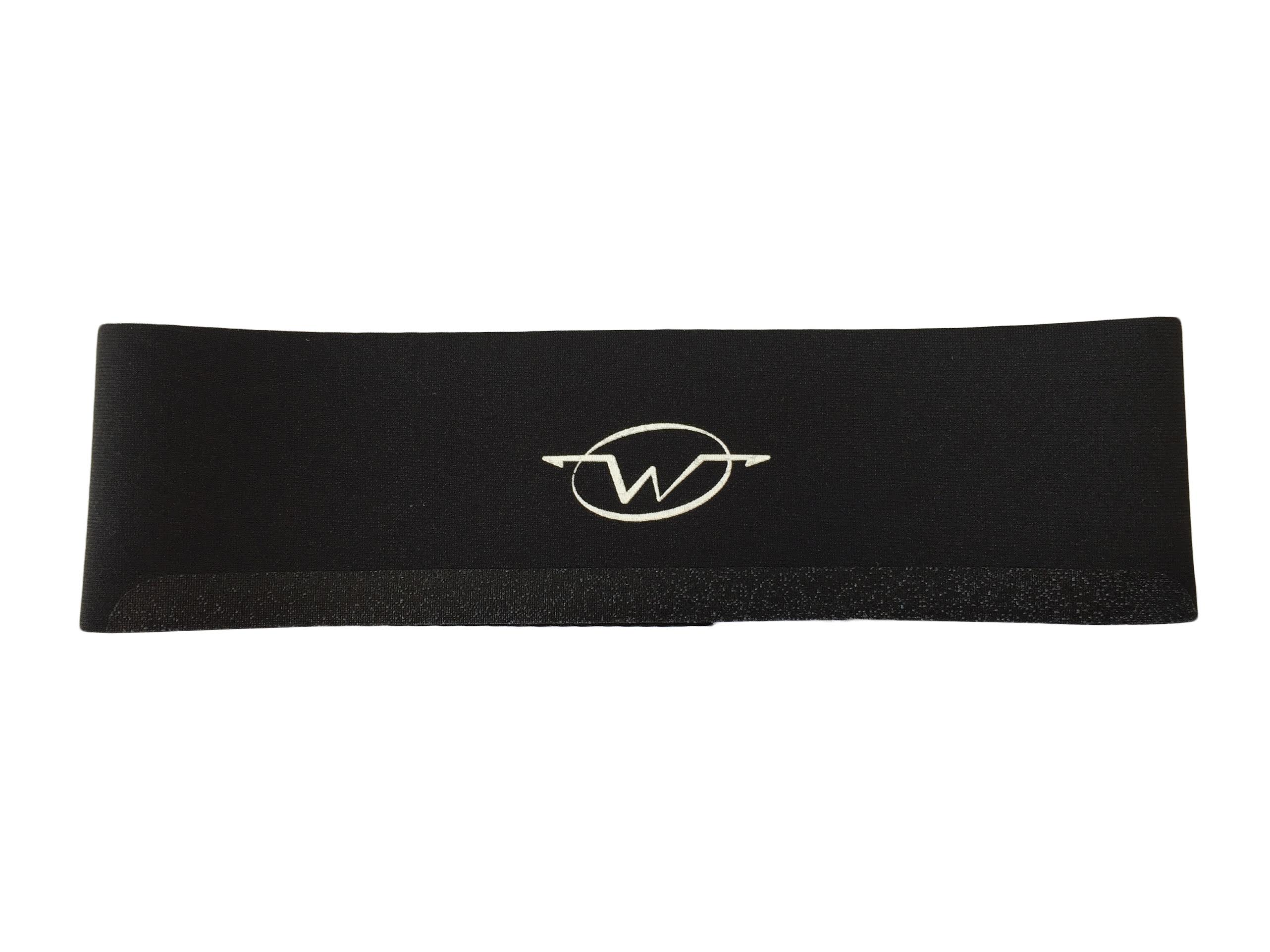 Black performance headband by Wickflow