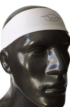 White performance headband