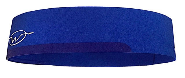 Blue sports headband