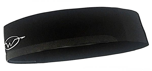 Black cycling headband
