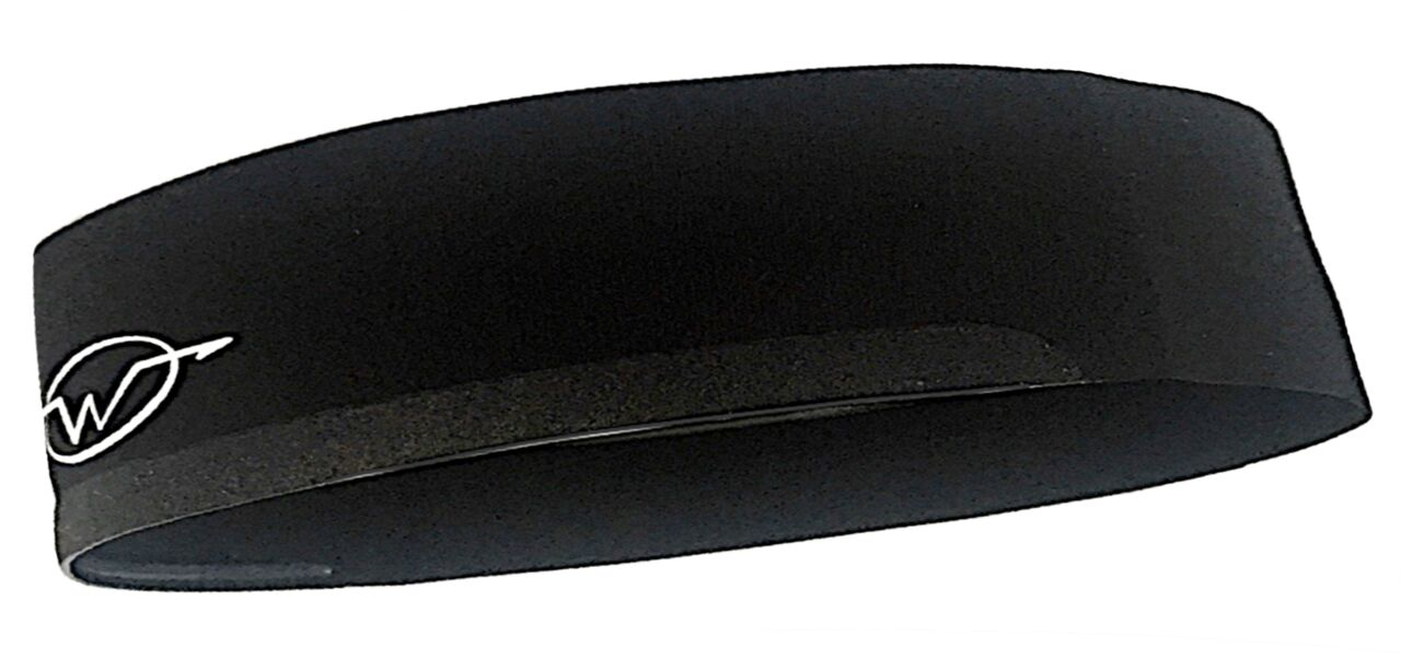 Black cycling headband