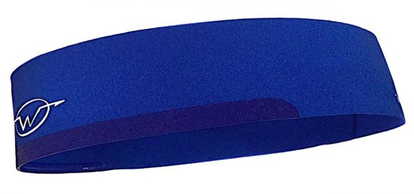 Blue cycling headband