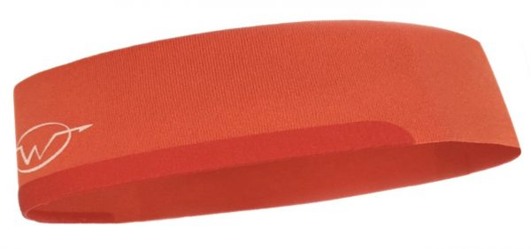 Orange cycling headband