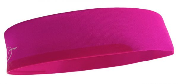 Pink cycling headband