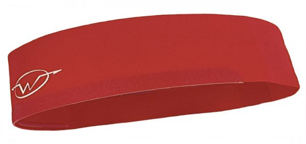 Red cycling headband