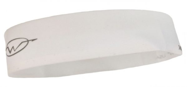 White cycling headband
