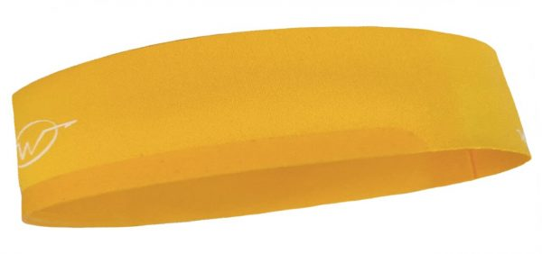 Yellow cycling headband