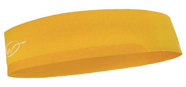 Yellow cycling headband