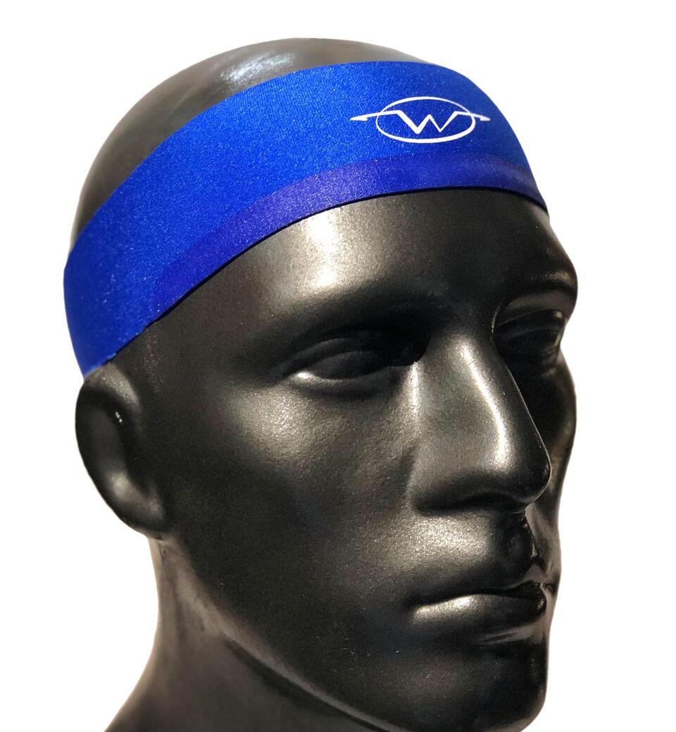 Blue performance headband