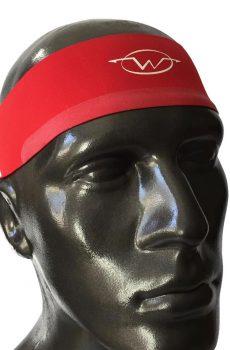Red performance headband