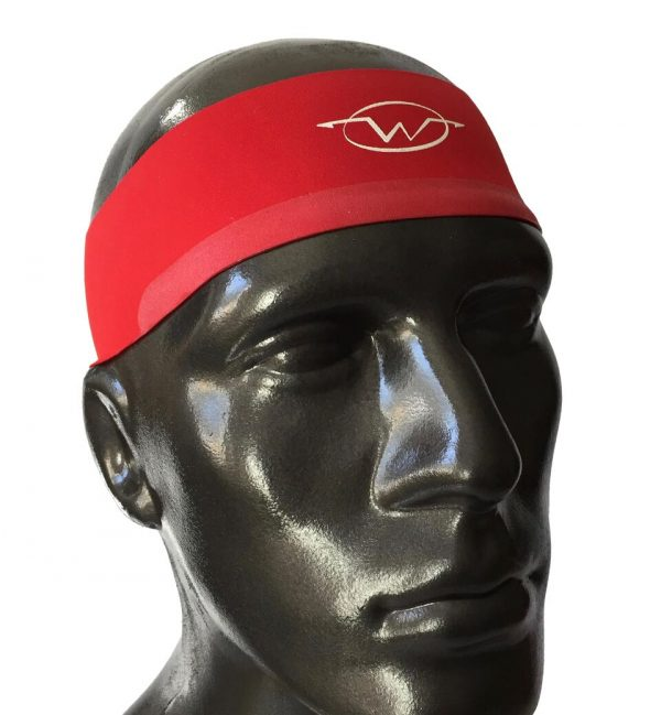 Red performance headband