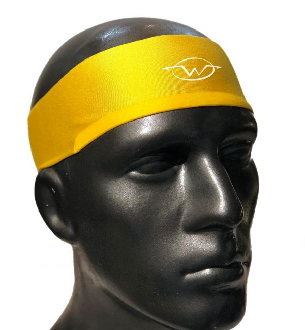 Yellow performance headband