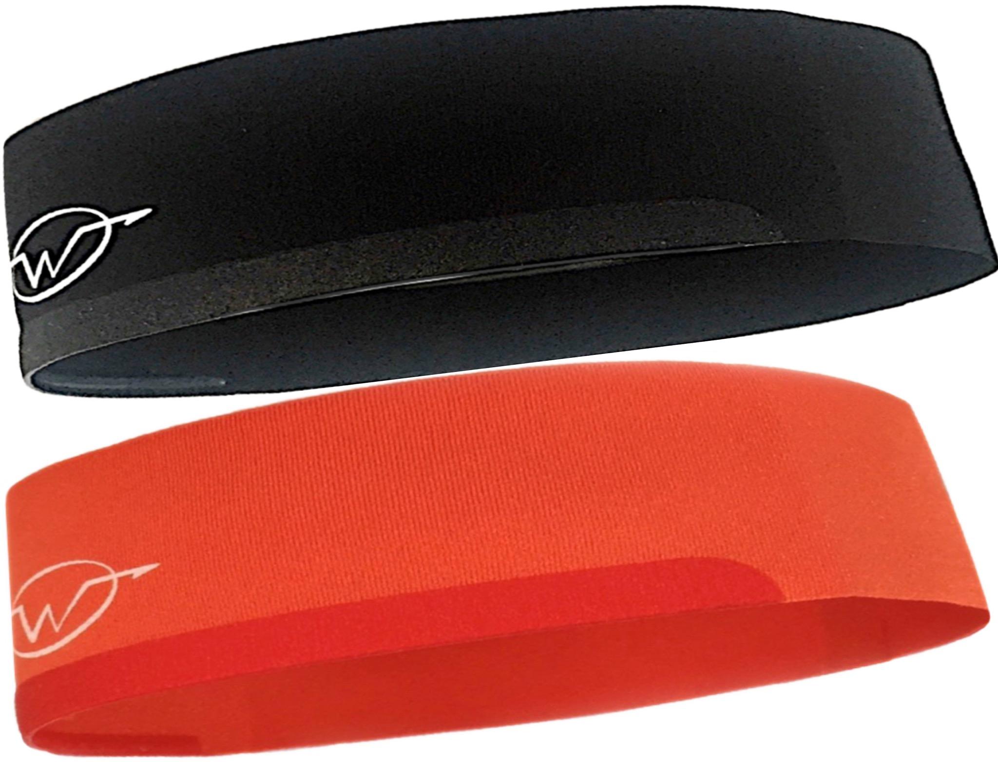 2-Pack Black/ Orange Performance Headbands