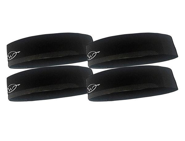 4-Pack Wickflow Performance Headband   Black